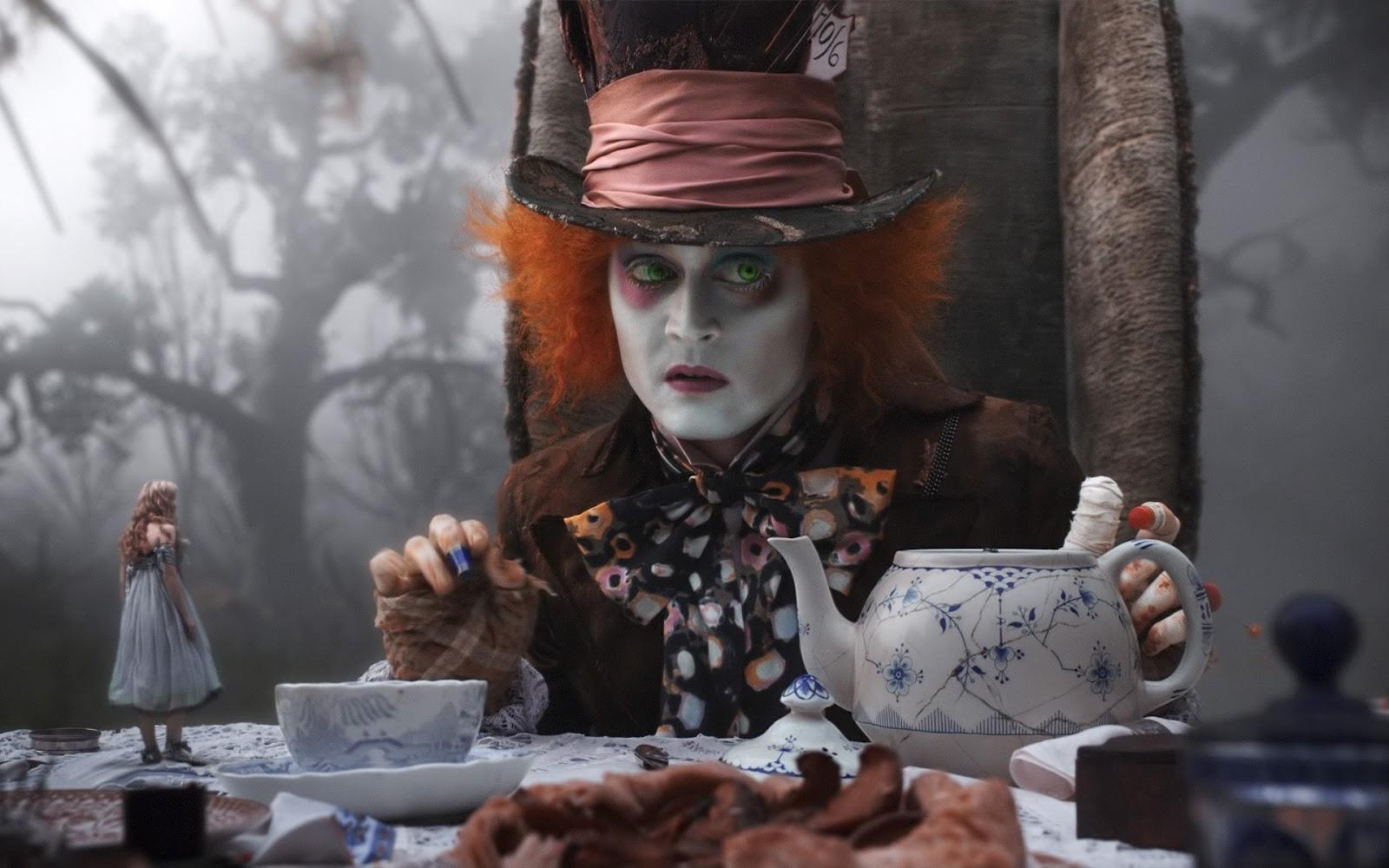 Johnny Depp, Hatter Crazy Hatter, Alicia dans Wonderland